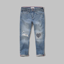 girls a&f girlfriend jeans