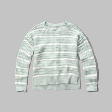 girls textured crew sweater