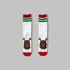 girls a&f chewbacca graphic socks