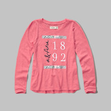 girls embroidery logo graphic tee