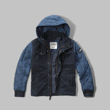girls contrast quilted jacket