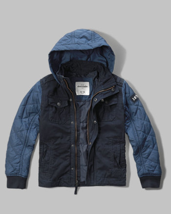 kids contrast quilted jacket
