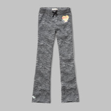 girls a&f shine logo flare sweatpants
