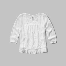 girls easy peasant top