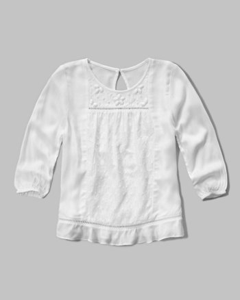 kids easy peasant top