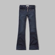 girls a&f flare jeans
