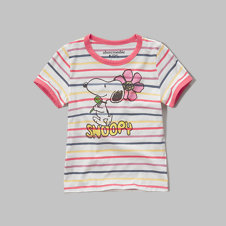 girls snoopy graphic tee