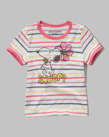 kids snoopy graphic tee
