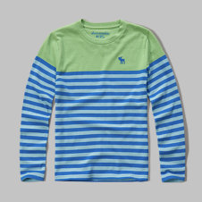 girls colorblock stripe tee