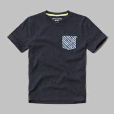 girls contrast pocket tee