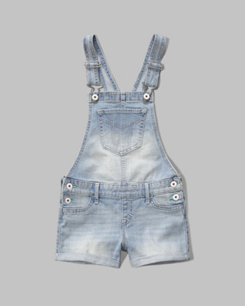kids a&f denim shortalls