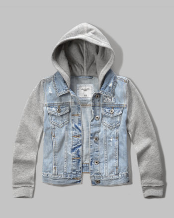 kids denim hoodie jacket