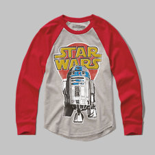 girls R2-D2 graphic tee