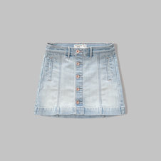 girls denim a-line skirt
