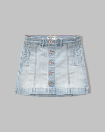 kids denim a-line skirt