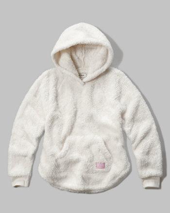 kids sherpa hoodie