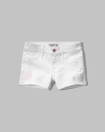 kids a&f shortie denim shorts