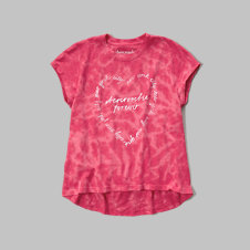 girls easy graphic tee