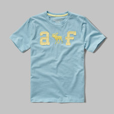 girls applique logo graphic tee