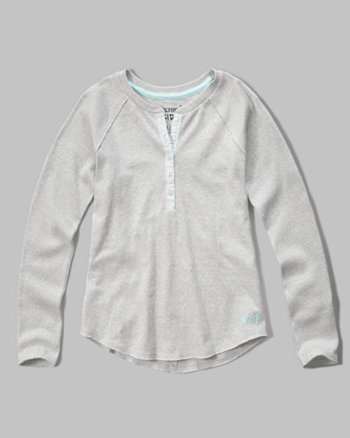 kids texture panel henley