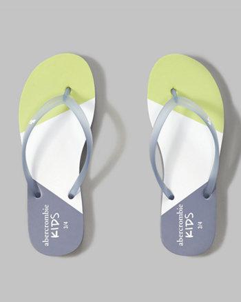 kids rubber flip flops