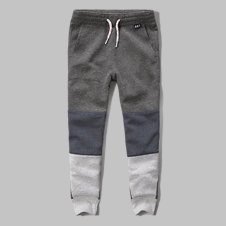 girls a&f colorblock joggers