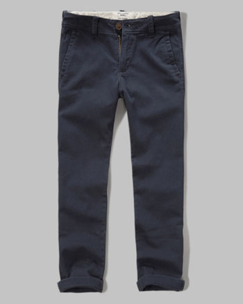 kids a&f slim straight chinos