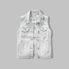 girls denim vest