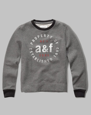 kids pocket crew sweatshirt