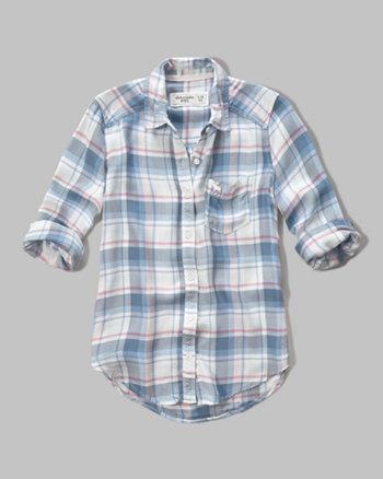 kids plaid pocket shirt