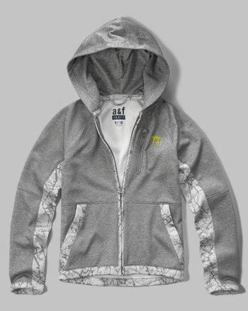 kids a&f sport full zip hoodie