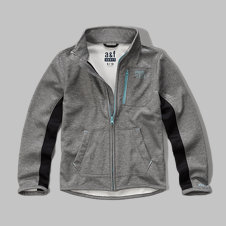 girls a&f sport mock neck jacket