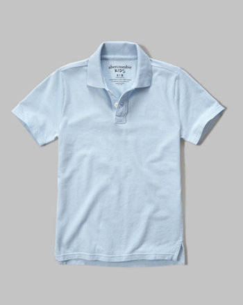 kids solid polo