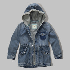 girls lightweight denim parka