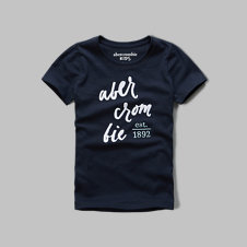 girls logo graphic tee