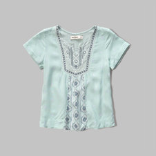 girls embroidered peasant top