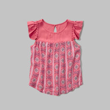 girls ruffle top