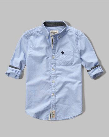 kids contrast poplin shirt