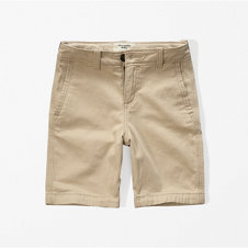 girls a&f classic plain front shorts