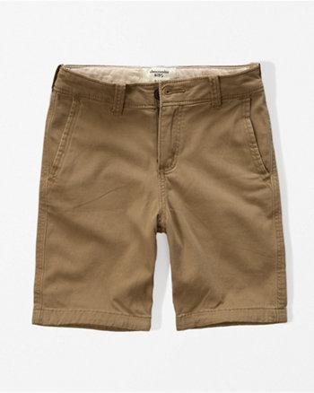kids a&f classic plain front shorts