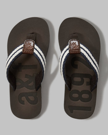 kids leather flip flops