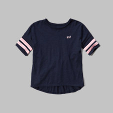 girls drapey sport tee