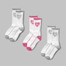 girls sporty crew socks