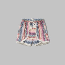 girls patterned tulip shorts