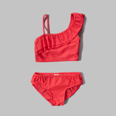 girls ruffle two-piece swimsuit