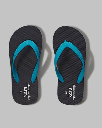 kids a&f rubber flip flops