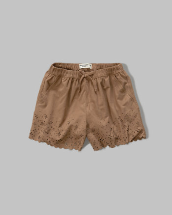 kids faux suede soft shorts