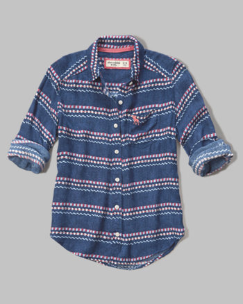 kids contrast pattern shirt