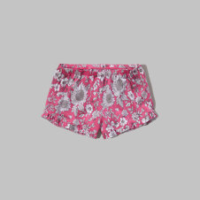 girls patterned ruffle sleep shorts