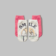 girls graphic ankle socks